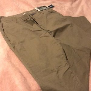 A lee mid rise fit long straight pants